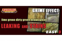 Набор красок Life Color -  EASY3 Leaking and Stains GRIME EFFECT