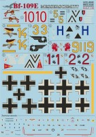 Декали Print Scale Messershmit Me-109 E Part 1 Wet decal