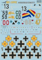 Декали Print Scale Messershmit Me-109 E Part 2 Wet decal