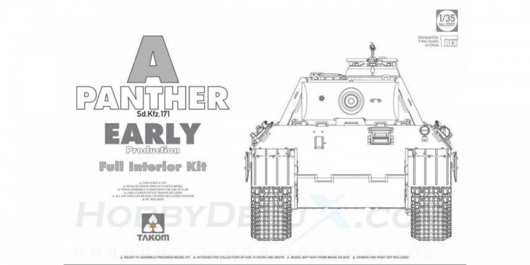 Takom 2097 Panther Ausf.A early Production w/ Full interior