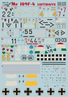 Декали Print Scale Me 109 F4 Wet decal